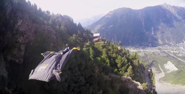 Прыжок с высоты  3847 - Ледник Des Bossons