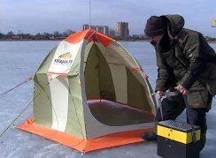 Salapinru: Установка и сборка зимней палатки в сильный ветер