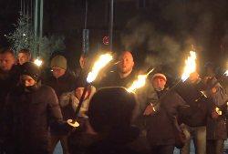 Неонацисты Баварии устроили огненное шествие