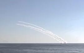 Кадры ракетного удара по ИГИЛ из Средиземного моря с русской подлодки.