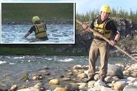 Соколов Григорий: Техника форсирования рек вброд с помощью шеста