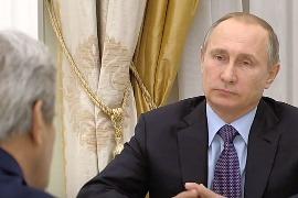 Встреча Путина и Керри в Кремле