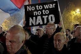 Черногория, митинг в Подгорице