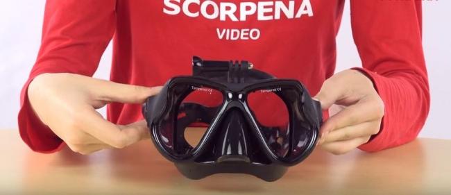 Маска Scorpena X с креплением GoPro