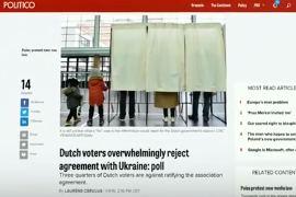 Жители Нидерландов против ассоциации с Украиной
