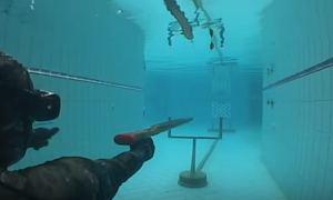 Тест подводного ружья из тика 130 см