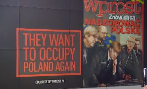 Поляки изобразили Ангелу Меркель в нацистской форме