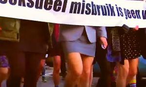 Дожили - в Нидерландах мужчины в мини-юбках защищают женщин.