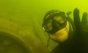 Илдар Сибгатуллин: Сомик который живет в покрышке (Подводная охота на сома)