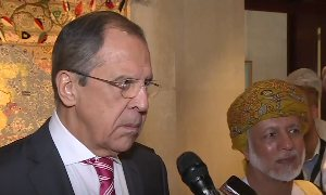 Пресс-подход Лаврова и главы МИД Омана