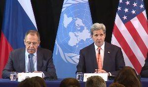 Пресс-конференция Лаврова и Керри по итогам встречи Международной группы поддержки Сирии