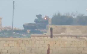Видео: Т-90 в Сирии выдержал попадание американского ПТУРа TOW.