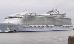 Титаник 2.0 - Крупнейший в мире круизный лайнер спущен на воду во Франции.