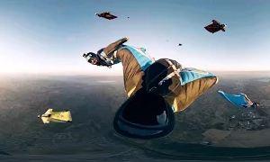 Видео 360: Прыжок с парашютом - виртуальная реальность