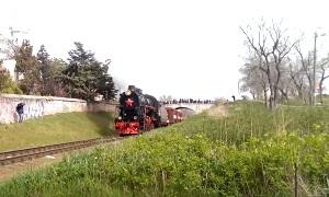 Феодосийцы встретили Поезд Победы (ФОТО, ВИДЕО)