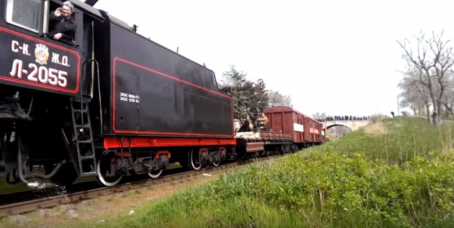 Феодосийцы встретили Поезд Победы