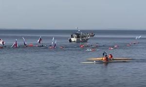 Победный заплыв 8 мая 2016 года (Владивосток)