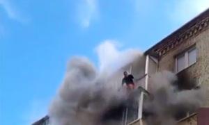 Пожар в Струнино (видео)