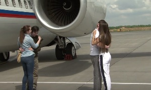 Россияне Ерофеев и Александров вернулись домой | The Russians Yerofeyev and Alexandrov returned home