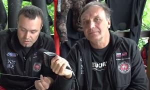 Владимир Докучаев и Александр Семенов: Как привязать линь к бегунку гарпуна?