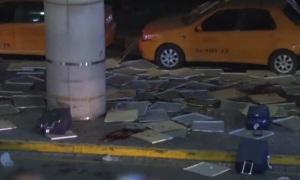 Видео подрыва смертника в аэропорту Стамбула (18+)