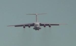Посадка без шасси или заход с уходом (Ил-76МД-М 76746)