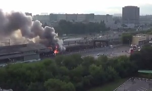 В московском метро из-за пожара произошла давка (08.07.2016)
