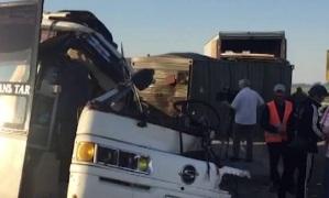 Кадры с места крупного ДТП в Дагестане, 9 человек погибли