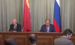Пресс-конференция глав МИД России Лаврова и Португалии