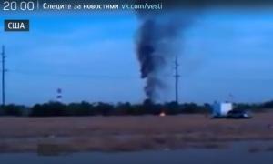 В США загорелся и упал воздушный шар (16 человек сгорели или разбились)