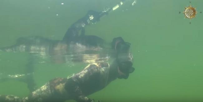 Подводная охота на озере глубоком, рецепт приготовления линя в сметанном соусе.