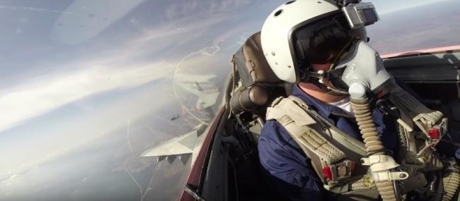Воздушный бой - видео из кабины МиГ-29