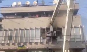 В Киеве подожгли телеканал агентов Кремля
