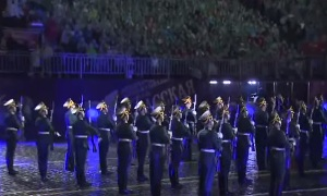 Закрытие международного военно-музыкального фестиваля «Спасская башня»