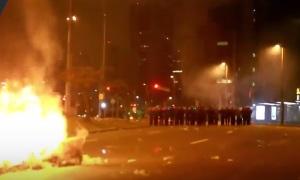 Беспорядки в Сан-Паулу - протест против и.о. президента Бразилии