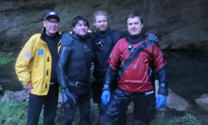 Рустам Сиразетдинов: Олег Гаврилин нырнул в подземную реку Шульган-Таша! (На задержке дыхания 30 м)