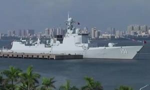 Финал учений России и КНР в Южно-Китайском море