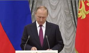 Путин вручает государственные награды в Кремле (Прямая трансляция)