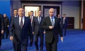 Путин и Назарбаев проводят бизнес-форум (Астана)