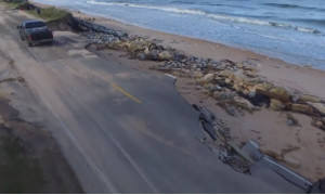 Побережье Флориды разрушенное ураганом Мэтью (Видео с беспилотника)
