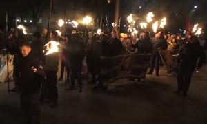Факельное шествие в честь Дня защитника Украины