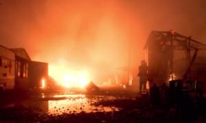 Кале в огне: пожар в лагере беженцев