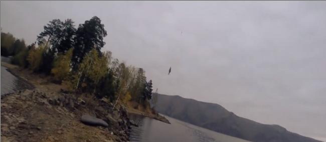 Рыбалка с помощью квадрокоптера на Красноярском водохранилище