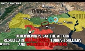 Сирия нанесла авиаудары по туркам в ответ за обстрел своих войск. Русский перевод.