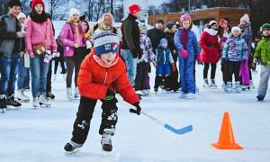 Где покататься на санках и коньках с детьми в Москве