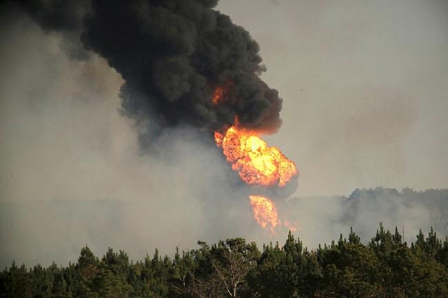 США: Семь человек пострадали (взорвался газопровод)