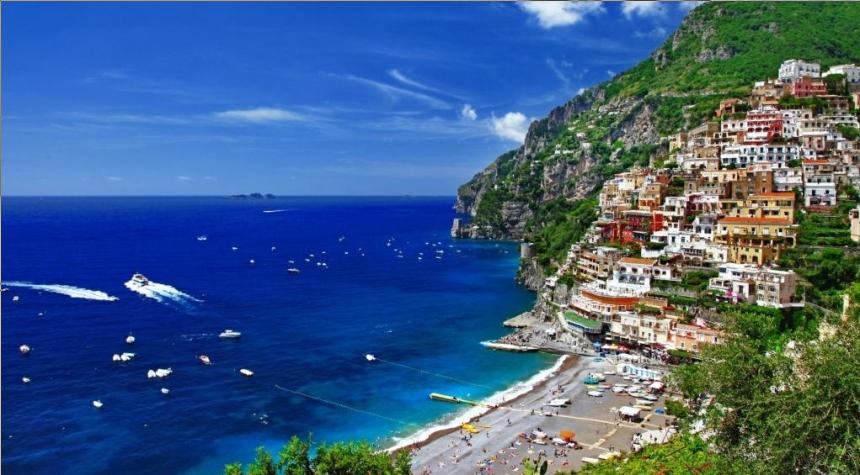 морское побережья Италии