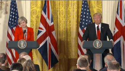 Пресс-конференция Дональда Трампа и Терезы Мэй