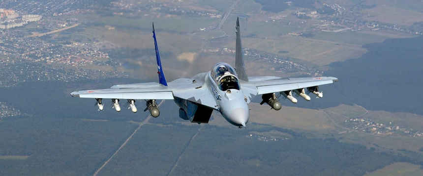 презентации новейшего российского истребителя МиГ-35.