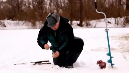 Ловля окуня на реке Иж.